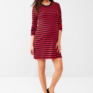 GAP | Red + Navy Striped Dress